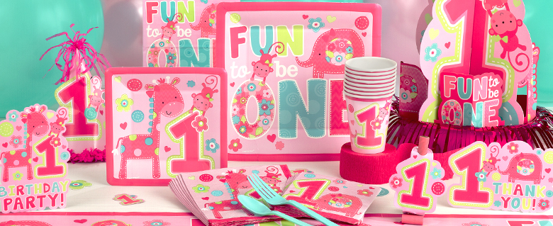Wild At One Girl S 1st Birthday Party Supplies Party