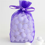 Purple Organza Bags - Medium