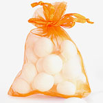 Orange Organza Bags - 10 x 7cm