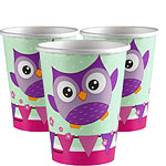 Owls Cups - Paper Party Cups