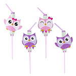 Owls Drinking Straws