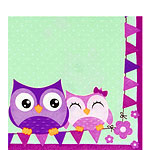 Owls Napkins - 2ply Paper