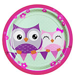 Owls Plates - 23cm Paper Party Plates