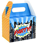 Pop Art Superhero Party Boxes - 15cm long
