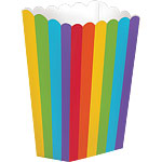Large Rainbow Popcorn Boxes - 18cm
