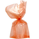 Orange Large Cello Party Bags - 29cm