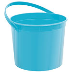 Turquoise Plastic Favour Bucke
