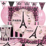 A Day In Paris Party Pack - Deluxe Pack for 8