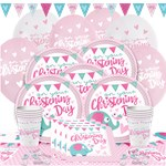 Christening Day Pink Party Pack - Deluxe Pack for 8