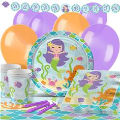 Mermaid Friends Party Pack - Deluxe Pack for 16