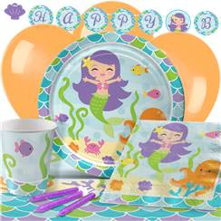 Mermaid Friends Party Pack - Deluxe Pack for 8