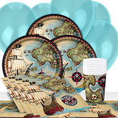 Pirate Map Party Pack - Value Pack for 8