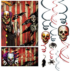 Scary Clown Decorating Kit