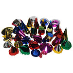 Mini Foil Party Hats - Assorted