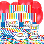 Birthday Brights Party Pack - Value Pack For 8