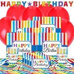 Birthday Brights Party Pack - Deluxe Pack for 8