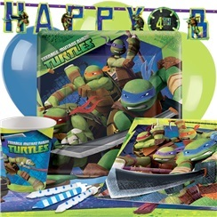 Ninja Turtles Party Pack - Deluxe Pack for 8