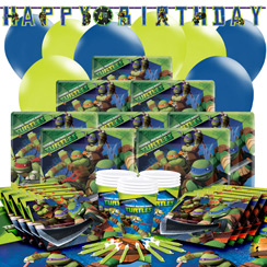 Ninja Turtles Party Pack - Deluxe Pack for 16