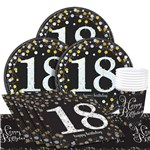 Sparkling Celebration 18th Birthday Party Pack - Value Pack For 8