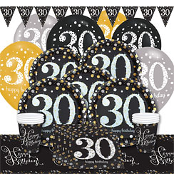 Sparkling celebration 30th birthday party supplies party for 30th birthday party decoration packs