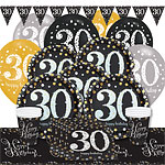 Sparkling Celebration 30th Birthday Party Pack - Deluxe Party Pack For 8