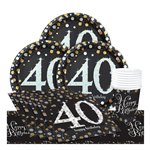 Sparkling Celebration 40th Birthday Party Pack - Value Pack For 8