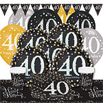 Sparkling Celebration 40th Birthday Party Pack - Deluxe Party Pack For 8