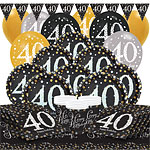 Sparkling Celebration 40th Birthday Party Pack - Deluxe Party Pack For 16