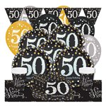 Sparkling Celebration 50th Birthday Party Pack - Deluxe Party Pack For 8