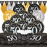 Sparkling Celebration 50th Birthday Party Pack - Deluxe Party Pack For 16