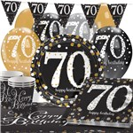 Sparkling Celebration 70th Birthday Party Pack - Deluxe Pack for 16