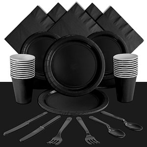 Black Party Pack<br /> <STRONG>SAVE 10%</STRONG><BR/>78p Per Person