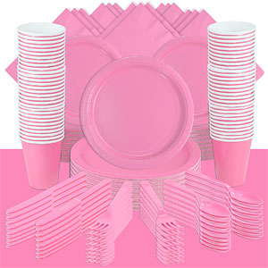 Baby Pink Party Pack For 100 People