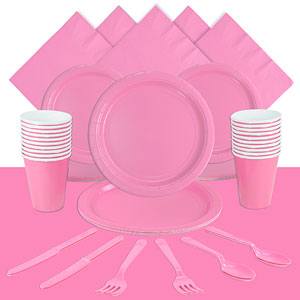 Baby Pink Party Pack<br /> <STRONG>SAVE 10%</STRONG><BR/>78p Per Person