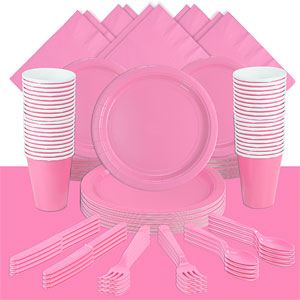 Baby Pink Party Pack For 60 People