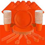 Orange Party Pack For 60 People