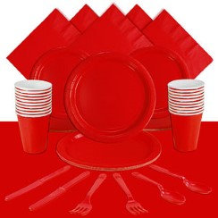 Red Party Pack <br /><STRONG>SAVE 10%</STRONG><BR/>78p Per Person