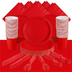 Red Party Pack For 60 People