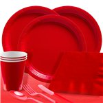 Red Party Pack For 60 People - Save 15%