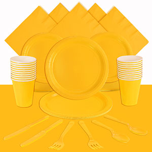 Yellow Party Pack For 20 People