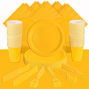 Yellow Party Pack<br /> <STRONG>SAVE 15%</STRONG><BR/>73p Per Person