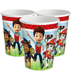 Paw Patrol Cups - 266ml Paper Party Cups