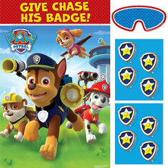 Paw Patrol Pin the Badge Game