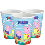 Peppa Pig Cups - 260ml Paper Party Cups