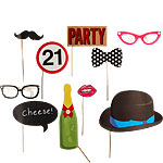 21st Birthday Photo Booth Props