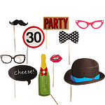 30th Birthday Photo Booth Props