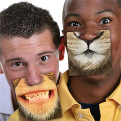 Party Animals Face Mats