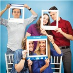 Social Snaps Photo Booth Frames - 36cm