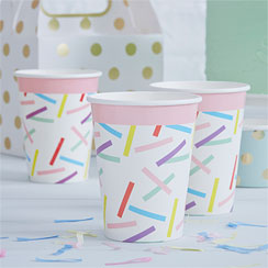 Pick & Mix Sprinkles Cups - 255ml Paper Party Cups