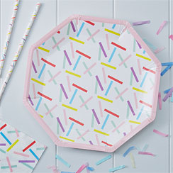 Pick & Mix Sprinkles Plates - 25cm Paper Party Plates